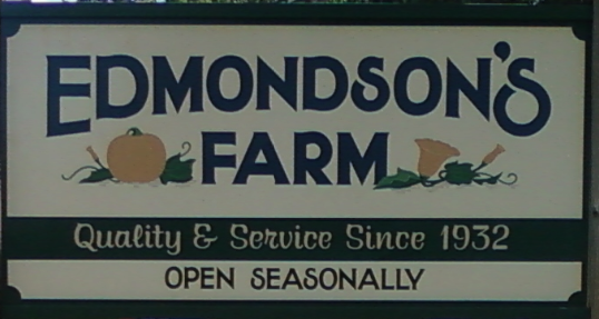 Edmondson's Farm Sign